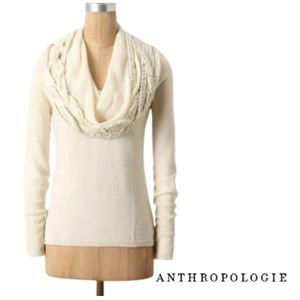 ANTHRO Angel Of The North Iced Garland Sweater